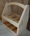 FSC pine wood handmade arch handle unfinished pine wooden beer holder boxes