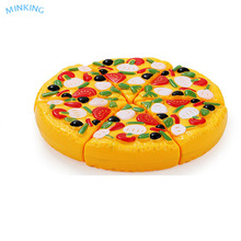 plastic ABS artificial fake pizza model education toys