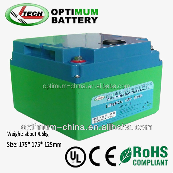 Deep Cycle LiFePO4 Battery 12V 30Ah for Electric Golf Car