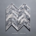 Cloudy Gray Chevron Mosaic for Sale