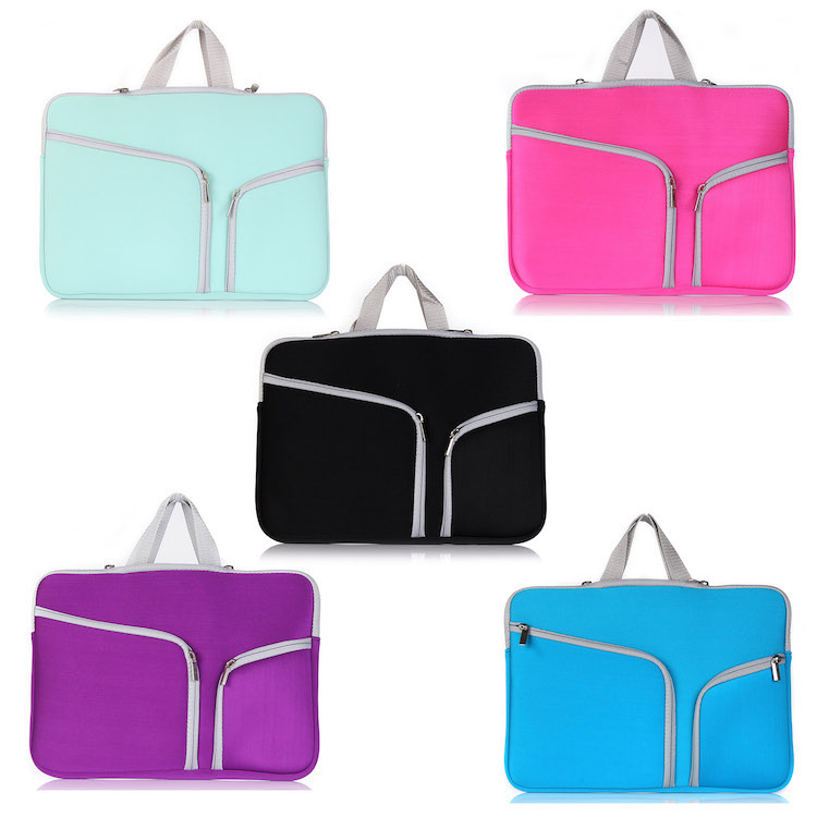 Polyester Fabric Multifunctional Sleeve Briefcase Handbag Case Cover for 12.9-13.3 Inch <strong>Laptop</strong>, Notebook, MacBook Air/Pro