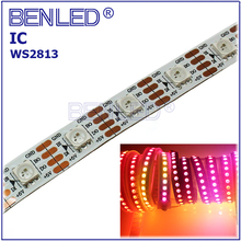 Signals Break-point Continuous WS 2813 SK6822 Pixel Waterproof DC5V Addressable Full Color RGB Flexible LED WS2813 IC Strip Tape