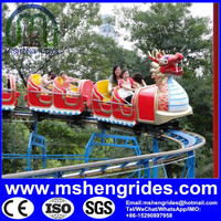 Amusement park ride equipment! ISO/ BV certificated sliding dragon electric toy train sets