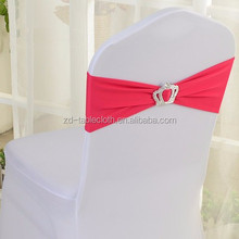 fushcia stretch spandex chair bands wedding chair cover bow for sale