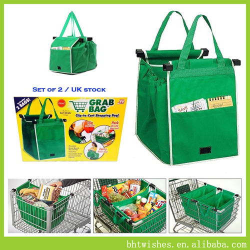 Trolley shopping bag, 2 Pcs Grab Bag