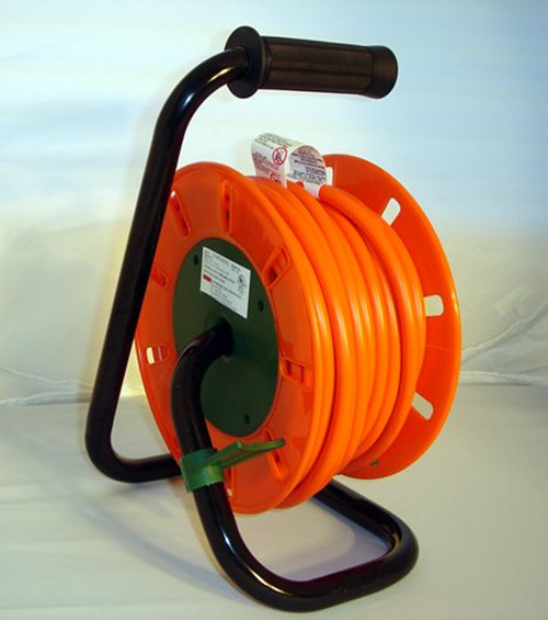 50-Foot Extension Cord Reel with 4ac Sockets + Circuit Breaker (14/3-Gauge)