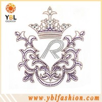 Red mini rhinestone crown embellishments for Clothing Decoration