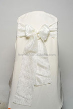 high quality ivory organza sash for chair in weldding banquet chair back