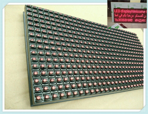 P10 red color led display panel outdoor red led module P10-1R LED Panel outdoor