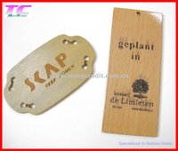 wood garment labels