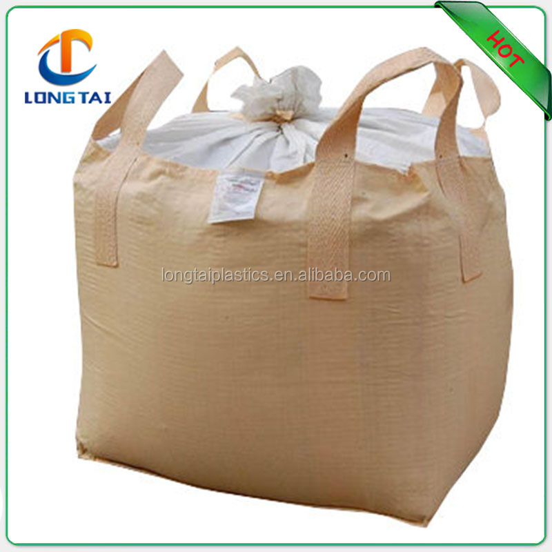 Large size 160gsm jumbo bag carrying bag with any color, waterproof 100% raw material 1 ton plastic jumbo bag,