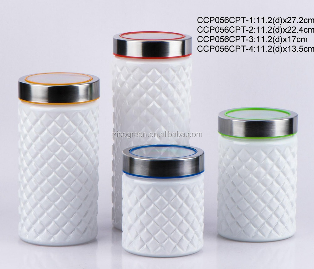 Glass jar sprayed with color with plastic lid(CCP056CPT)
