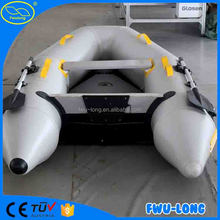 Fwulong 1.5mm pvc high Speed large inflatable boat/ fishing boat manufacture factory in china