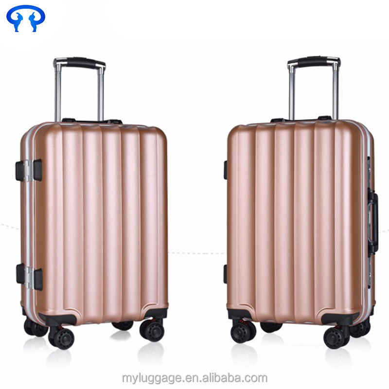 Pure pc aluminum frame trolley case caster luggage business air express suitcase