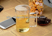 Wholesale Pyrex Glass 500ML Beer Mug With Lid