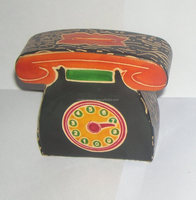 HAND MADE LEATHER TELEPHONE COIN BANKS