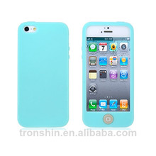 Eco-friendly Silicone Mobile Phone Skin Cases for Apple iPhone 5S