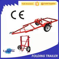 4 x 8 ft Large Folding Motorcycle Utility Trailer