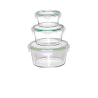 High technique cookware 800ml round glass food tiffin box
