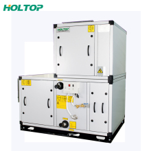 Horizontal heating cooling coil air handler unit