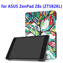 Creative Patterns Leather Case for ASUS ZenPad Z8s ZT582KL Tablet Smart Cover