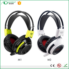 2017 fashionable wholesale promotional game headphone headset earphone, gaming headphone with microphone