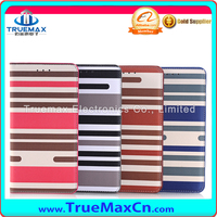 Luxury Flip Cover Stand Wallet PU Colorful Stripe Leather Case For Samsung Galaxy Note 5