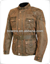 Outdoor waxed cotton motorcycle & auto racing wear