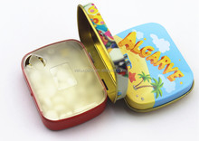 Hinged Cute Mint Candy Tin Pack Boxes