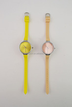 Fashion slim strap ladies silicone watch for small wrists
