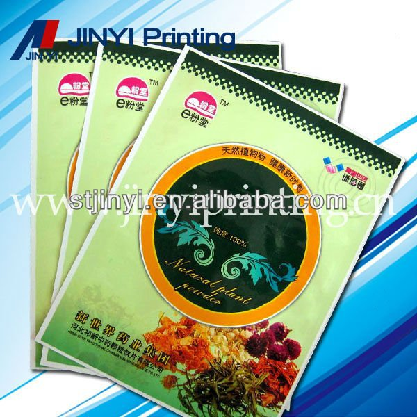Multilayer printing plastic herbal incense bags