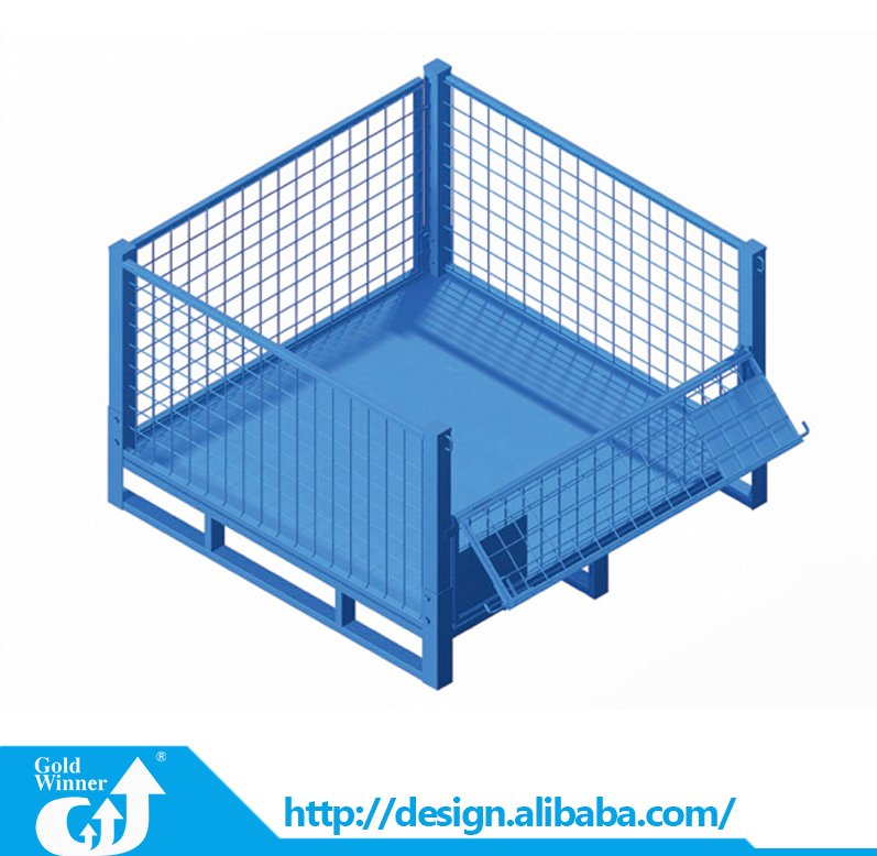 Custom cage pallet sides products storage wire mesh container