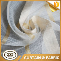 china cheap stripe sheer fabric curtain