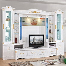 Foshan furniture modern living room new model lcd led tv wall units stand cabinet showcase designs price