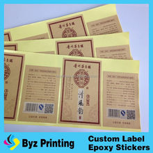 mineral water custom private own label branding, label sticker plastic cmyk printing