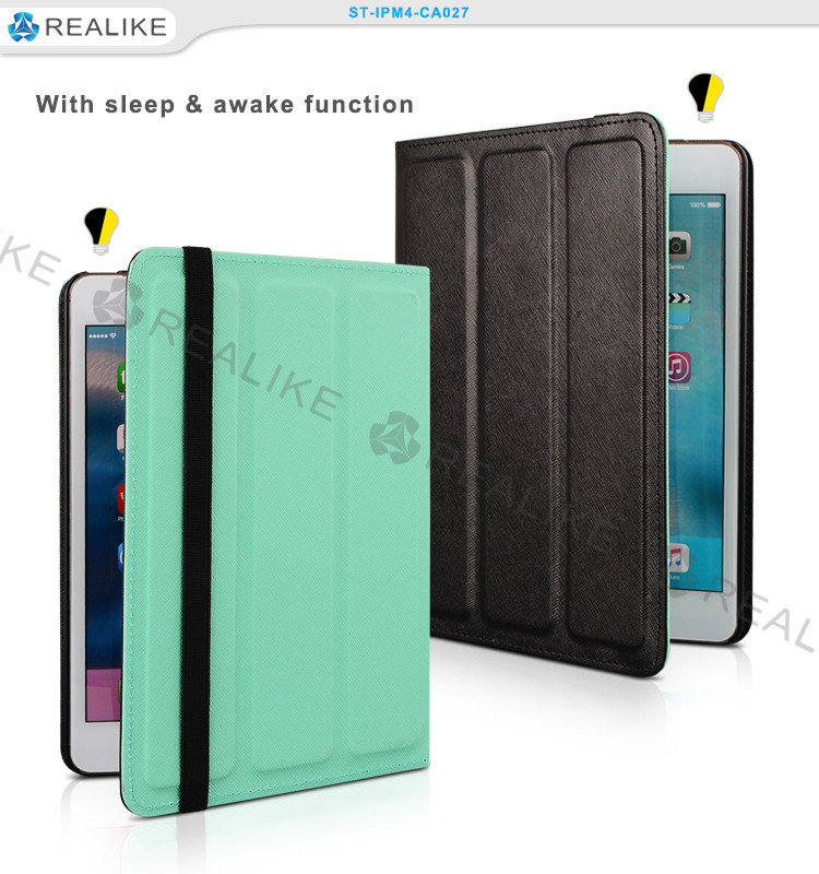 High quality leather tablet waterproof case for ipad mini