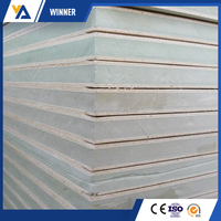 Insulated metal wall panel/exterior and interior wall panel/ PUR/PIR /PU cold room sandwich panel from alibaba china