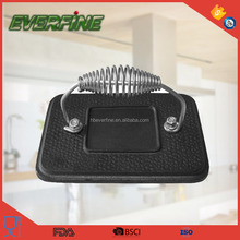 cast iron barbecue meat pie grill press