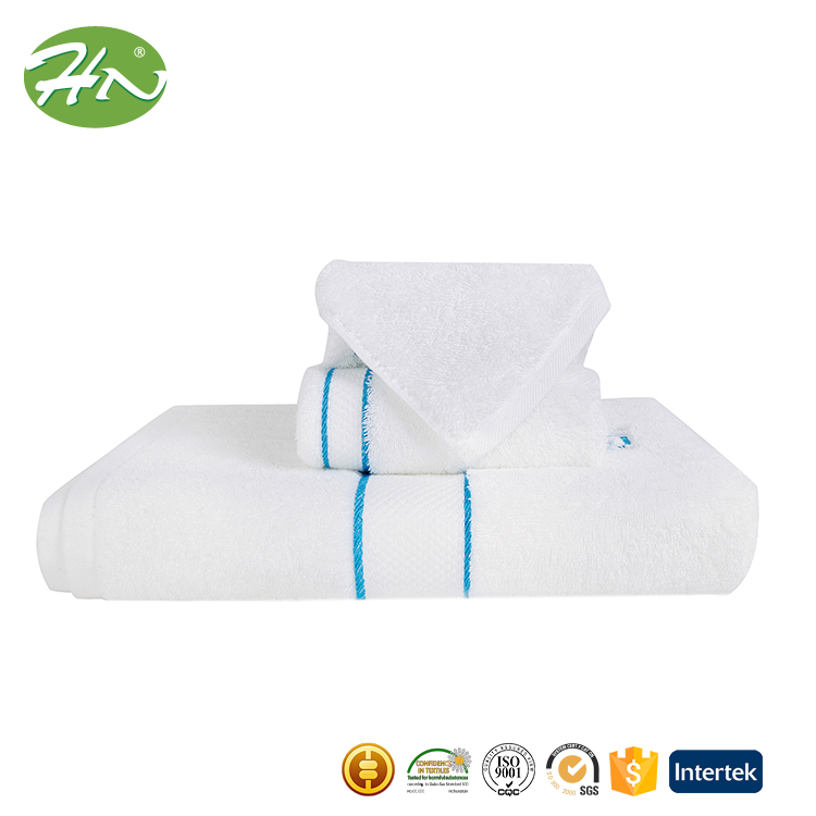 Hot Sale 600gsm White Embroidery Turkish Combed Cotton Towel
