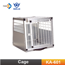 KA-601 Portable Boarding Facility Aluminium Dog Carrier Kennel Cage Pet Transport Car Cages