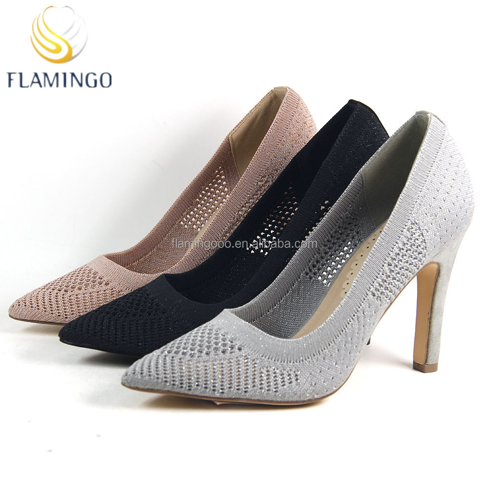 FLAMINGO 2017 LATEST ODM OEM pointed toes high heel women high quality pump shoes