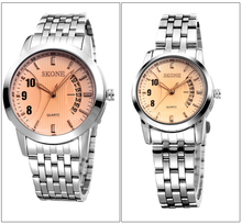 Stainless Steel Quartz Couple Lover Wrist Watch SKONE Brand Couple Watch