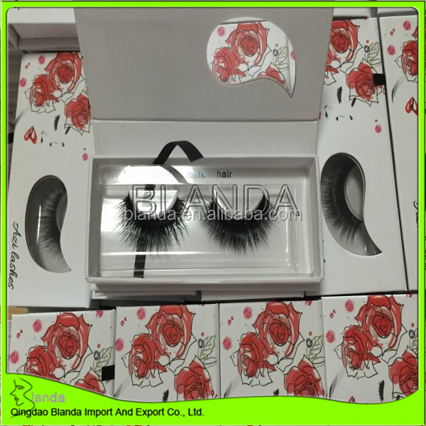 False eyelash custom private label mink eyelashes 3d mink lashes