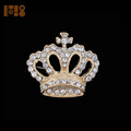 new arrival Crown Princess brooches Gold Plated Wedding Clear Rhinestone Party Brooch Pin For Lady