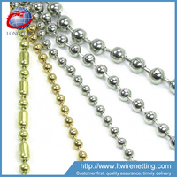 Anping Factory sale bead decorative metal screen / decorative door curtain / metal bead curtain