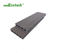 Eco-friendly outdoor wpc decking plastic wood flooring looks like wood extrude artificial wood panel