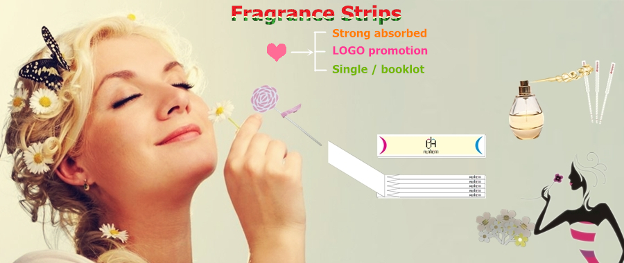 high quality OEM perfume strip sniff test paper with LOGO printing, M-1061