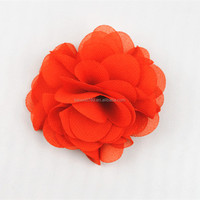Handmade chiffon garment decoration fabric flower accessories for shoe