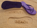 Latest Embossed logo on the sand cheap Summer beach sandals