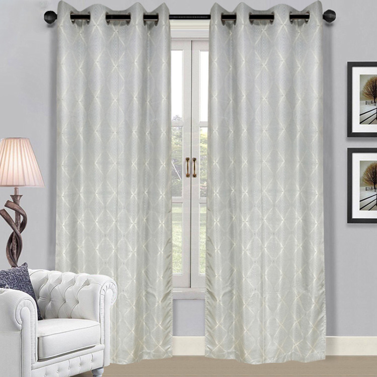 Hot Sale Fancy Jacquard Half Shading Curtain For Living Room
